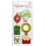 American Crafts - Christmas Magic Collection - Layered Chipboard Stickers