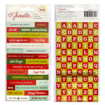 American Crafts - Shimelle Collection - Christmas Magic - Cardstock Stickers - Phrases and Alphabet