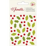 American Crafts - Christmas Magic Collection - Enamel Stickers - Holly