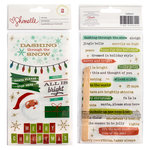 American Crafts - Christmas Magic Collection - Foil Rub Ons
