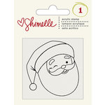 American Crafts - Shimelle Collection - Christmas Magic - Clear Acrylic Stamps - Santa