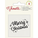 American Crafts - Shimelle Collection - Christmas Magic - Clear Acrylic Stamps - Merry Christmas