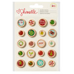 American Crafts - Christmas Magic Collection - Wood Buttons
