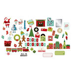 American Crafts - Christmas Magic Collection - Ephemera with Foil Accents