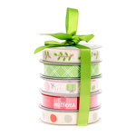 American Crafts - Christmas - Ribbon - Holiday - 5 Spools
