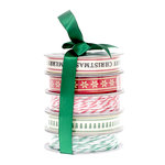 American Crafts - Ribbon - Merry Christmas - 5 Spools