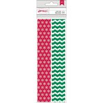 American Crafts - Christmas - Paper Straws - Snowflake and Chevron