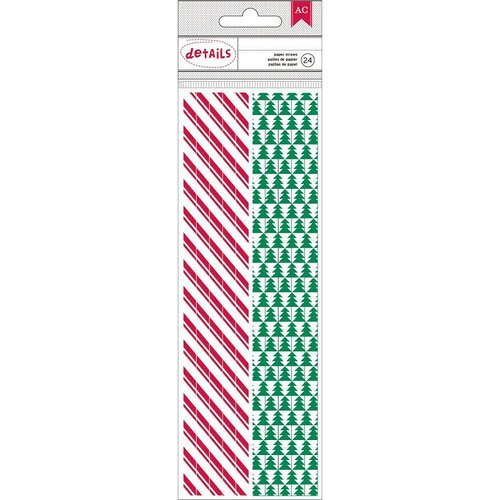 American Crafts - Christmas - Paper Straws - Trees and Candy Stripe