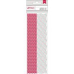 American Crafts - Christmas - Paper Straws - Chevron and Dot