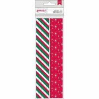 American Crafts - Christmas - Paper Straws - Stripe and Star