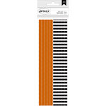 American Crafts - Halloween Collection - Paper Straws - Orange Dots and Black Stripes