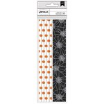American Crafts - Halloween Collection - Paper Straws - Pumpkins and Webs