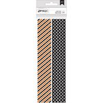 American Crafts - Halloween - Paper Straws - Stripes and Skulls