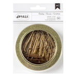 American Crafts - Office Tins - Large - Paper Clips - Gold - 3.5 Inches