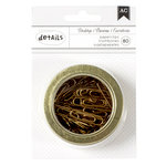American Crafts - Office Tins - Small - Paper Clips - Gold - 2.5 Inches