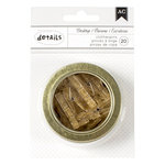 American Crafts - Office Tins - Small - Clothespins - Gold Glitter - 2.5 Inches