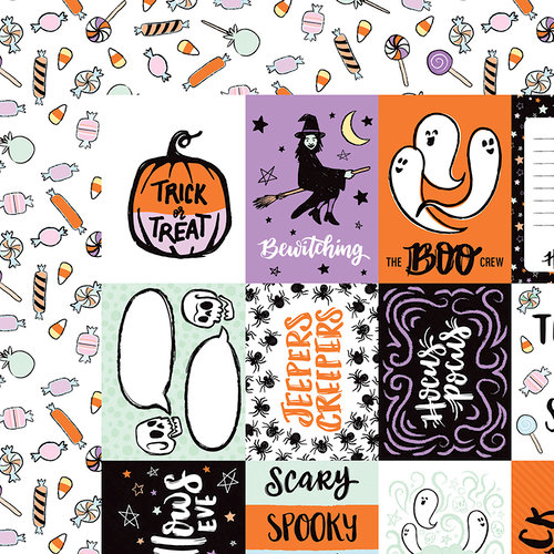 American Crafts - BOOtiful Night Collection - Halloween - 12 x 12 Double Sided Paper - Bewitched