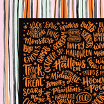 American Crafts - BOOtiful Night Collection - Halloween - 12 x 12 Double Sided Paper - Stroke of Midnight