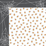 American Crafts - BOOtiful Night Collection - Halloween - 12 x 12 Double Sided Paper - Treat Yo'Self