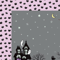 American Crafts - BOOtiful Night Collection - Halloween - 12 x 12 Double Sided Paper - Eerie