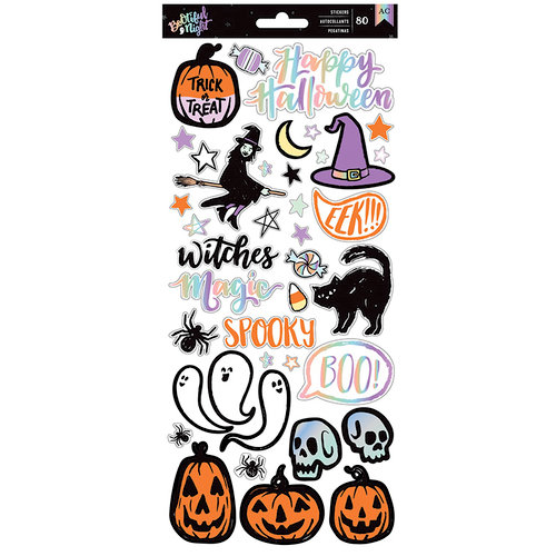 American Crafts - BOOtiful Night Collection - Halloween - Cardstock Stickers