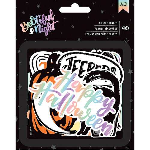 American Crafts - BOOtiful Night Collection - Halloween - Ephemera - Holographic Foil
