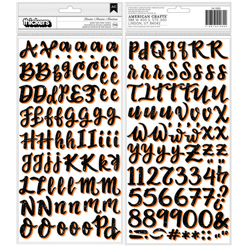 American Crafts - BOOtiful Night Collection - Halloween - Thickers - Alpha - Foam - Glitter