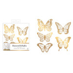 American Crafts - Wall Art - Wall Decals - Vinyl - 3 Dimensional - Butterfly - Gold