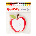American Crafts - Jack and Molly Collection - Back To School - Sticky Notes - Red Apple