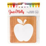 American Crafts - Jack and Molly Collection - Back To School - Sticky Notes - Wood Apple