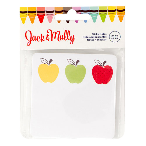 American Crafts - Jack and Molly Collection - Back To School - Sticky Notes - 3 Apple