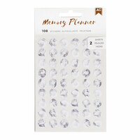 American Crafts - Memory Planner Collection - Marble Crush - Cardstock Stickers - Hole Reinforcers