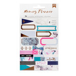 American Crafts - Memory Planner Collection - Marble Crush - Cardstock Stickers - Labels with Foil Accents