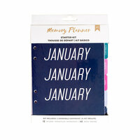 American Crafts - Memory Planner Collection - Marble Crush - Starter Kit - Mixed - Undated