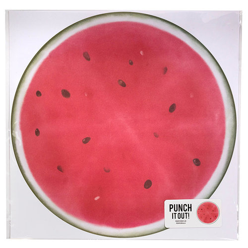 American Crafts - 12 x 12 Die Cut Paper - Watermelon