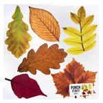 American Crafts - 12 x 12 Die Cut Paper - Leaves