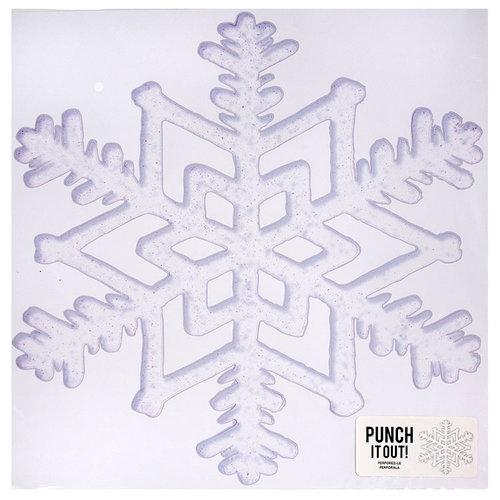 American Crafts - 12 x 12 Die Cut Paper - Snowflake