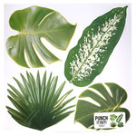 American Crafts - 12 x 12 Die Cut Paper - Multi Tropical Leaves