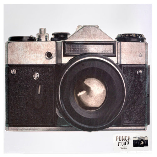 American Crafts - 12 x 12 Die Cut Paper - Camera