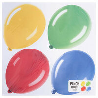 American Crafts - 12 x 12 Die Cut Paper - Balloons
