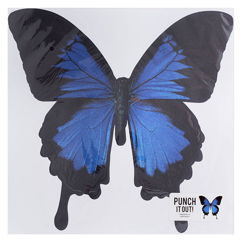 American Crafts - 12 x 12 Die Cut Paper - Butterfly