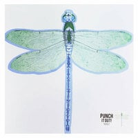 American Crafts - 12 x 12 Die Cut Paper - Dragonfly
