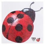 American Crafts - 12 x 12 Die Cut Paper - Lady Bug
