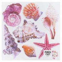 American Crafts - 12 x 12 Die Cut Paper - Multi Shells