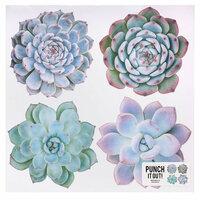 American Crafts - 12 x 12 Die Cut Paper - Multi Succulent
