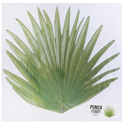American Crafts - 12 x 12 Die Cut Paper - Tropical Leaf 2