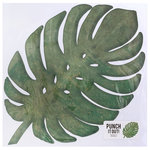 American Crafts - 12 x 12 Die Cut Paper - Tropical Leaf 1