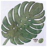 American Crafts - 12 x 12 Die Cut Paper - Tropical Leaf 1