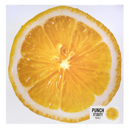 American Crafts - 12 x 12 Die Cut Paper - Lemon