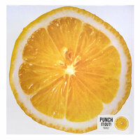 American Crafts - 12 x 12 Die Cut Paper - Lemon
